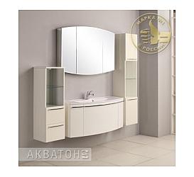 Мебель для ванной Севилья 120 белый жемчуг Aquaton 1A126501SEG30 (Тумба + раковина + зеркало) AQUATON