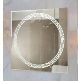 Зеркало Континент Византия Люкс 70х70 с подсветкой ЗЛП05
