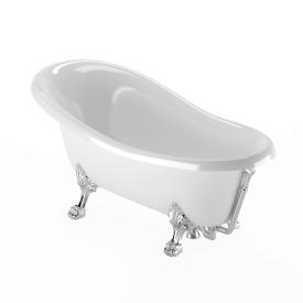 """Ванна на лапах """"LEONE"""" STANDART, слив/перелив хром"""
