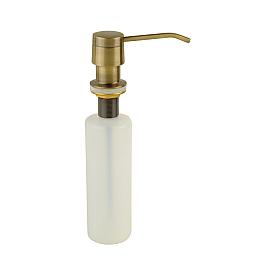 Дозатор жидкого мыла встраиваемый (колба пластик 250мл.), бронза