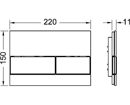Панель смыва TECE square 9240802