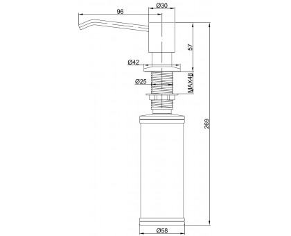 Дозатор для кухни Paulmark Rein D002-302