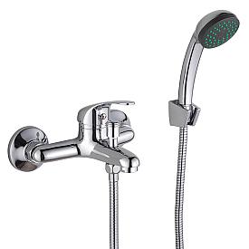TRIUMPH Смеситель д/ванны монокомандный, с ручным душем, хром