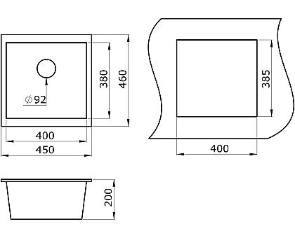 Мойка для кухни кварцевая Paulmark Brilon PM104546-WH