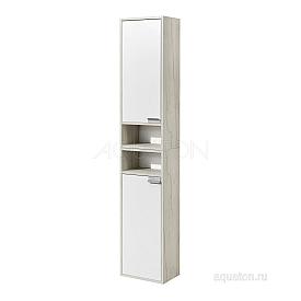 Шкаф - колонна Флай 1-створчатый белый, дуб крафт левый Aquaton 1A237903FAX1L