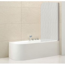 Шторки на ванну распашной ECO (Cezares) ECO-V-1-80/140-P-Cr-R