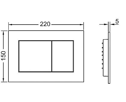 Панель смыва TECEnow 9240407