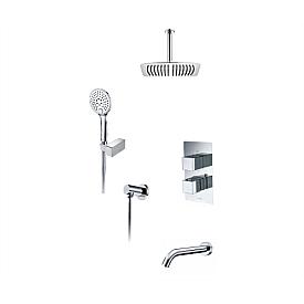 А171568 Thermo Встраиваемый комплект для ванны с верхней душевой насадкой, лейкой и изливом WasserKRAFT