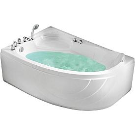 Ванна угловая с подголовником Gemy 150х100 G9009 B L