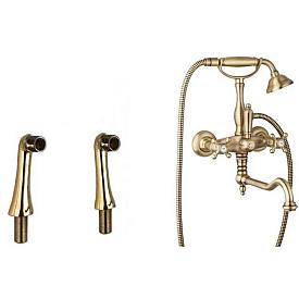 Смеситель  с держателем для лейки  для душа Cezares GOLF-PBV2-02-M
