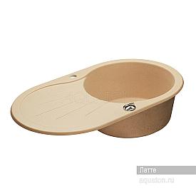Мойка для кухни Паола круглая с крылом латте Aquaton 1A714032PA260