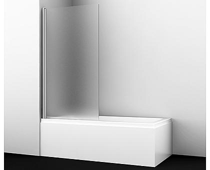 48P01-80L Matt glass Стеклянная шторка на ванну WasserKRAFT
