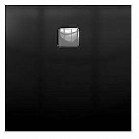 Акриловый душевой поддон Riho 430 100x100 черный матовый, накладка хром DC341700000000S
