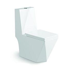 Унитаз напольный безободковый моноблок с сиденьем микролифт SantiLine SL-5013