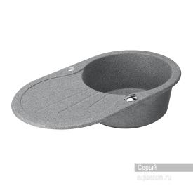 Мойка для кухни Паола круглая с крылом серая Aquaton 1A714032PA230