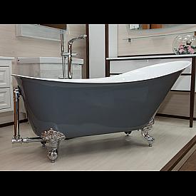 """Акриловая ванна """"Кондор"""" на ножках со сливом-переливом Radomir 1-01-2-0-1-142"""