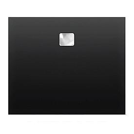 Акриловый душевой поддон Riho 418 140x90 черный матовый, накладка хром DC281700000000S