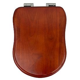 OLD ITALY Крышка-сиденье для унитазa, с системой Soft-close, цвет NOCE/петли хром