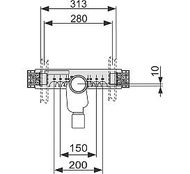 Монтажный комплект со встроенным сифоном для раковины TECE 9020034  TECE в Барнауле