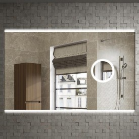 Зеркало Armadi Art Vallessi 100x70 541/2 с увеличением и подсветкой