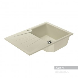 Мойка для кухни Монца прямоугольная с крылом жемчуг Aquaton 1A716032MC240