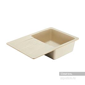 Мойка для кухни Аманда прямоугольная с крылом шампань Aquaton 1A712832AD290