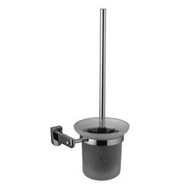 Ершик для унитаза с держателем (стакан-стекло) Lemark LM3137C хром