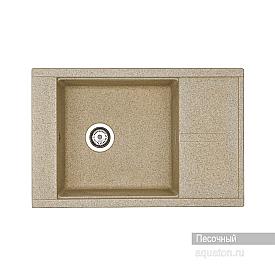 Мойка для кухни Делия 78 прямоугольная с крылом песочная Aquaton 1A715132DE220