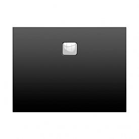 Акриловый душевой поддон Riho 414 100x90 черный матовый накладка хром DC241700000000S