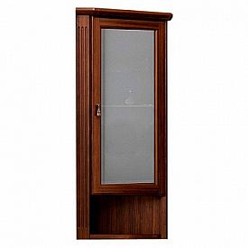 Шкаф Клио подвесной угловой, правый, с матовым стеклом Opadiris Z0000003907