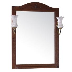Зеркало ASB Салерно 65 с полкой+светильники 9690-OREH Цвет орех