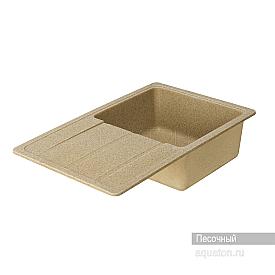 Мойка для кухни Аманда прямоугольная с крылом песочная Aquaton 1A712832AD220
