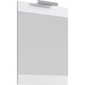 Бригпанель с зеркалом и светильником белый Br0206W AQWELLA