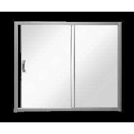 W53S-1701150MT BLISS L Шторка на борт ванны 170x150с одной дверьюпрофиль матов.хром стекло прозр