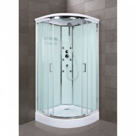 Душевая кабина BelBagno UNO-CAB-R-2-80-P-Cr-TOP