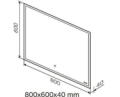 M71AMOX0801SA SPIRIT V2.0 Зеркало с LED-подсветкой и системой антизапотевания ИК-сенсор 80 см