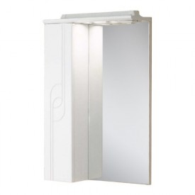 Зеркальный шкаф Панда 50 левый белый Aquaton 1A007402PD01L