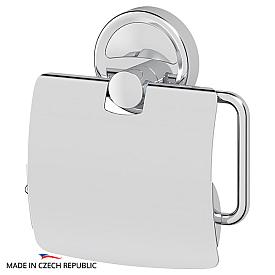 Держатель туалетной бумаги с крышкой (хром) FBS ELL 055