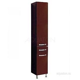 Шкаф - колонна Ария Н темно-коричневая Aquaton 1A124303AA430