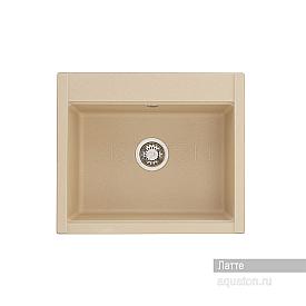 Мойка для кухни Делия 60 прямоугольная латте Aquaton 1A715232LD260