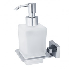 RAMBA Дозатор жидкого мыла настенный, хром/матовое стекло