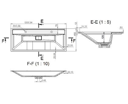 M50AWPC1201WG INSPIRE V2.0 раковина мебельная  искусственный мрамор 120 см