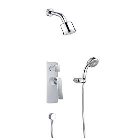 Душевая система встроенная Timo Helmi SX-4059/00-16SM хром-белый
