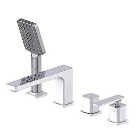 Смеситель для ванны с душем врезной Timo Torne 4330/00-16Y хром-белый