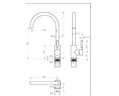 Смеситель для кухни Paulmark Holstein Ho212063-CR