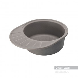 Мойка для кухни Чезана круглая с крылом серый шелк Aquaton 1A711232CS250