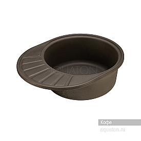 Мойка для кухни Чезана круглая с крылом кофе Aquaton 1A711232CS280