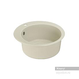 Мойка для кухни Иверия круглая жемчуг Aquaton 1A711032IV240