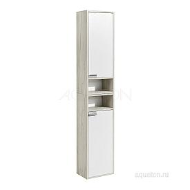 Шкаф - колонна Флай 1-створчатый белый, дуб крафт правый Aquaton 1A237903FAX1R
