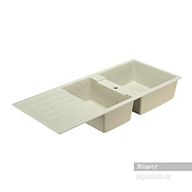 Мойка для кухни Торина прямоугольная с чашей жемчуг Aquaton 1A712032TR240